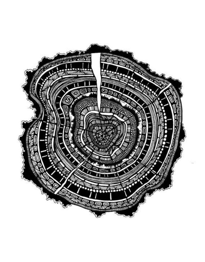 Kaila Erb Art&Illustration Kaila Erb-Tree Rings-11x11