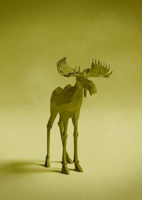 Joel E Hunt Joel E Hunt-Moose-Giclee Print