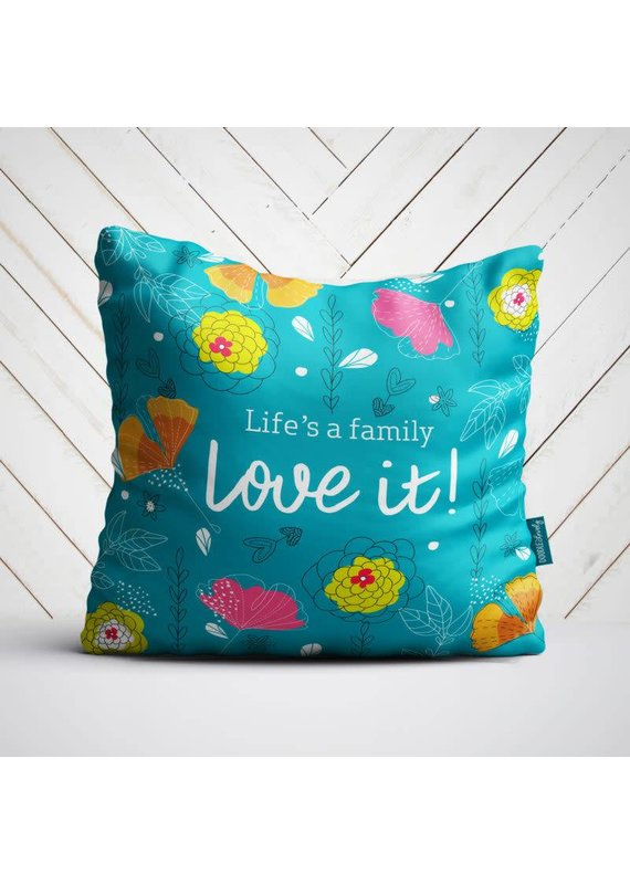 Doodle Lovely Doodle Lovely-Life's a Family Pillow