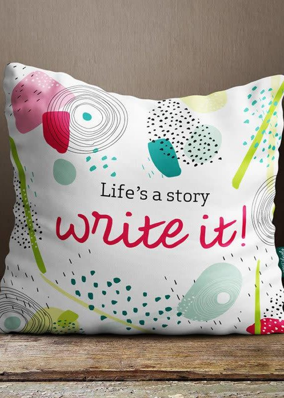 Doodle Lovely Doodle Lovely-Life's a Story Pillow