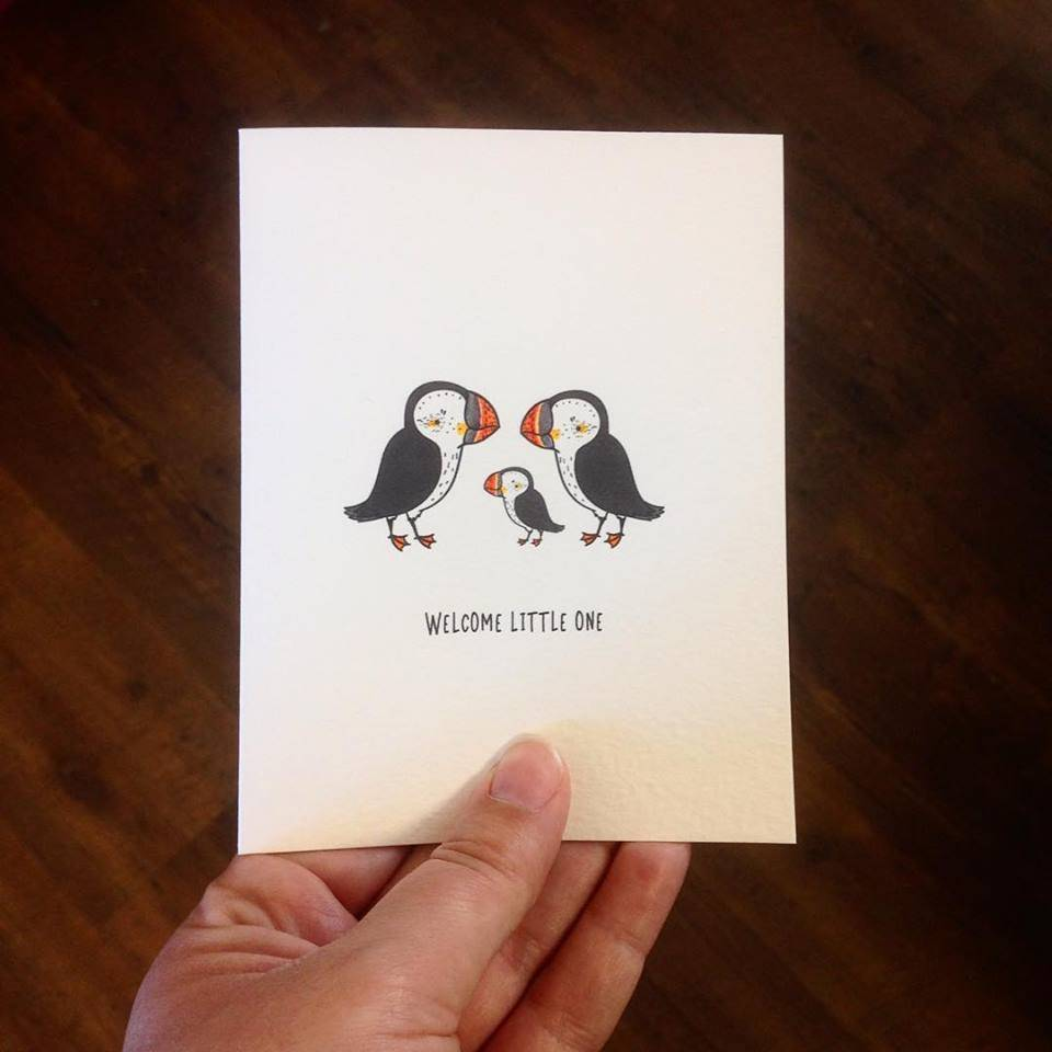 Driven to Ink Driven to Ink-Welcome Little One-Puffins