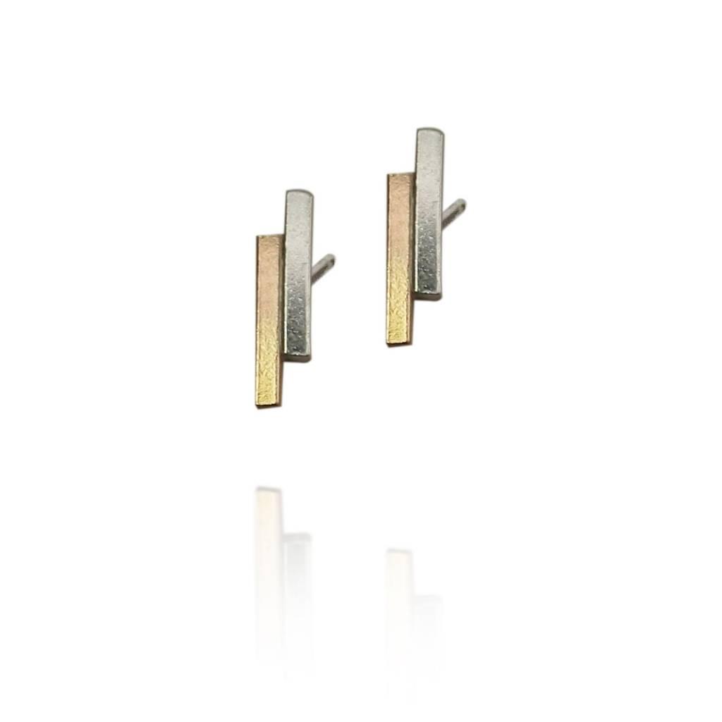 Strut Jewelry Strut-Double Bar Studs