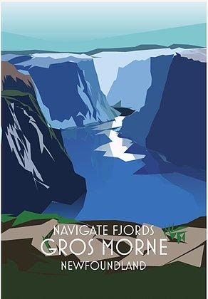 Junk Junk-Poster-Navigate Fjords-Gros Morne-12x18