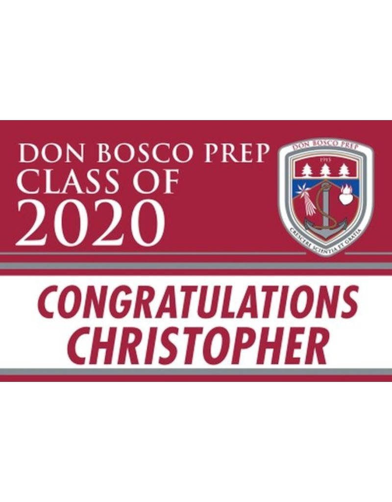 Fanatic Class of 2020 Personalized Graduation Lawn Sign