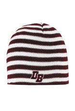 "Logo Fit ""Blizzard"" Maroon/White Striped Hat"