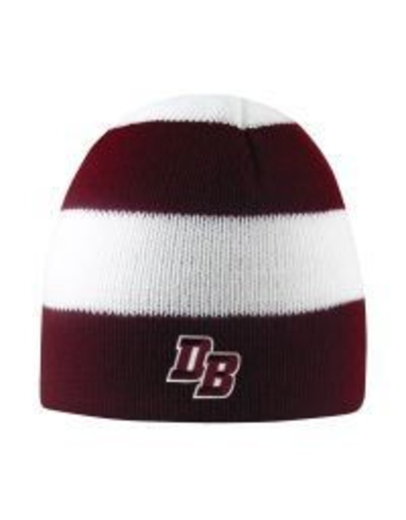 """""""Columbia"""" Hat with Thick Maroon/White Stripes"""