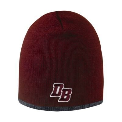 "Logo Fit ""Bright Stripe"" Maroon Hat with a graphite or black  stripe"