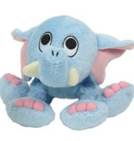 """Dogit Dogit """"Puppy Luvz"""" Plush Dog Toy with Squeaker, Blue Elephant"""