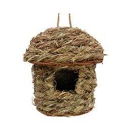 Living World Outdoor Bird Nest - Orchard Grass - Hut - 14 cm x 14 cm x 18 cm