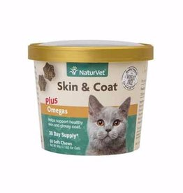 NaturVet Naturvet Cat Skin & Coat Soft Chews 60ct