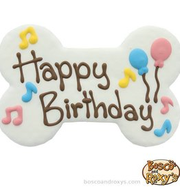 Bosco and Roxy's Bosco and Roxy's Birthday Paw-ty Collection Giant Happy Birthday Bone Cookie