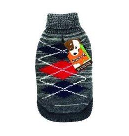 Doggie-Q Doggie-Q Grey Diamonds Sweater - 10in