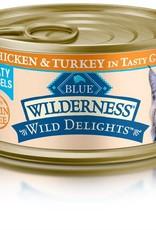 Blue Buffalo Blue Buffalo Wilderness Wild Delights Adult Cat Canned Chicken & Turkey Recipe 3oz (85g)