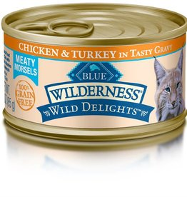 Blue Buffalo Blue Buffalo Wilderness Wild Delights Adult Cat Canned Chicken & Turkey Recipe 3oz (85g)