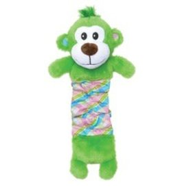 Dogit Dogit Stuffies Dog Toy - Plush & Crinkle Green Monkey