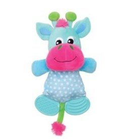 Dogit Dogit Stuffies Dog Toy - Plush & Crinkle Blue Reindeer