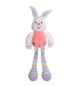 Dogit Dogit Stuffies Dog Toy - Nubby Plush Pink Rabbit - 42 cm (16.5 in)