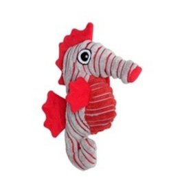 Dogit Dogit Stuffies Dog Toy - Corduroy Plush Gray Seahorse