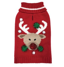 Foufou Foufou Dog Ugly Sweater Reindeer XS