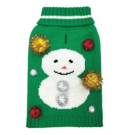 Foufou Foufou Dog Ugly Sweater Snowman XS