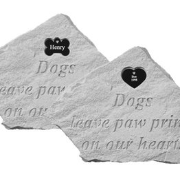 Memorial Bone - Dogs Leave Paw Prints