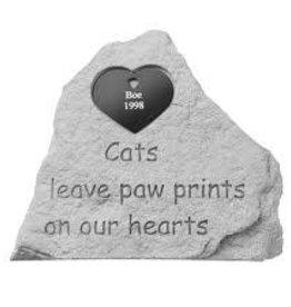 Retail Advantage Memorial Heart - Cats Leave Paw Prints