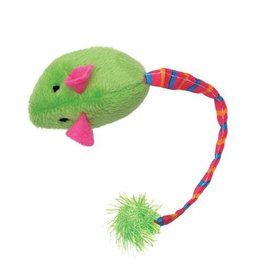 Cat Love Furry Frolics  Green Plush Catnip Mouse