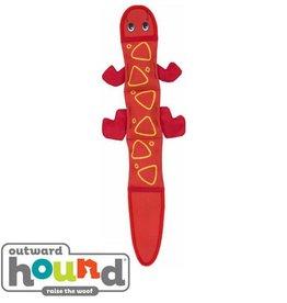 Outward Hound Outward Hound Fire Biterz Lizard Red 3 Squeaks
