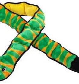 Outward Hound Outward Hound Invincibles Snake Green & Orange 12 Squeaks