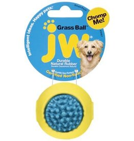 JW Natural Rubber Grass Ball Treat Holder Small