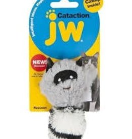 JW Cataction Plush Catnip Racoon Grey