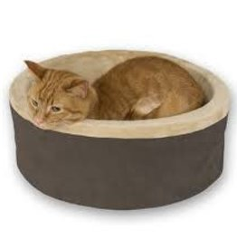 "K&H Thermo Kitty Bed Mocha 20"" Diameter"