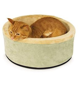 "K&H Thermo Kitty Bed Sage 16"" Diameter"