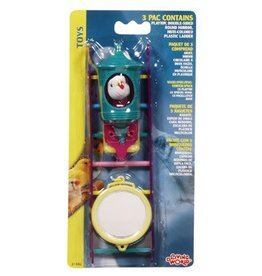 Living World Bird Toys 3pc Assorted
