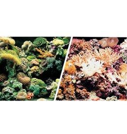 "Marina Marina Double Sided Aquarium Background - Marine Reef/Coral Scenes 18"" x 1ft"
