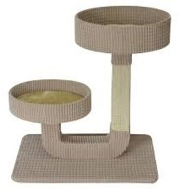 Animal Treasures Animal Treasures Cat Tree Scratcher - Double Pedestal - 24""