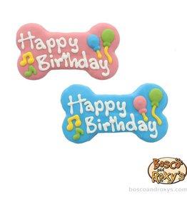 Bosco and Roxy's Bosco and Roxy's Birthday Paw-ty Happy Birthday Bone Cookie