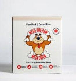 Mega Dog Mega Dog Pure Duck 4lb Patties