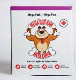 Mega Dog Mega Dog Pure Pork 4lb Patties