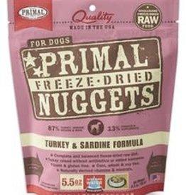 Primal Primal Freeze-Dried Nuggets Canine Turkey & Sardine Formula 5.5oz