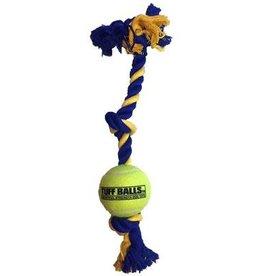"""PETSPORT USA Petsport Twisted Chew 3 Knot Rope Mini 1.8"""" Tuff Ball"""