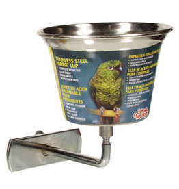 Living World Stainless Steel Parrot Cup - Small - 360 ml (12 oz)