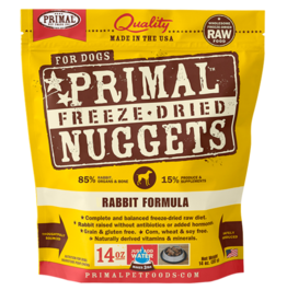 Primal Primal Freeze-Dried Nuggets Canine Rabbit Formula 5.5oz