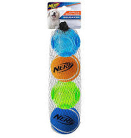 Nerf Dog Nerf Puppy TPR Sonic/Tennis Ball 4pk