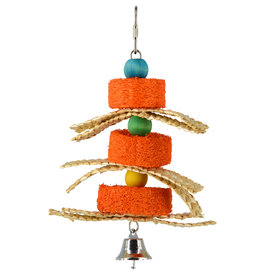 Animal Treasures Animal Treasures Birdie Jingle Pumpkin Sponge Spinner