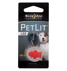 Nite Ize Nite Ize PetLit LED Collar Light Red Hydrant
