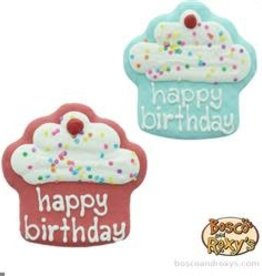 "Bosco and Roxy's Boso and Roxy's Birthday Collection Prepackaged 4"" Happy Birthday Cupcakes"