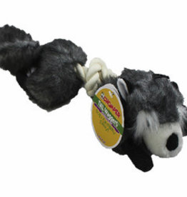 Chomper Tail Wag Safari Rope Raccoon