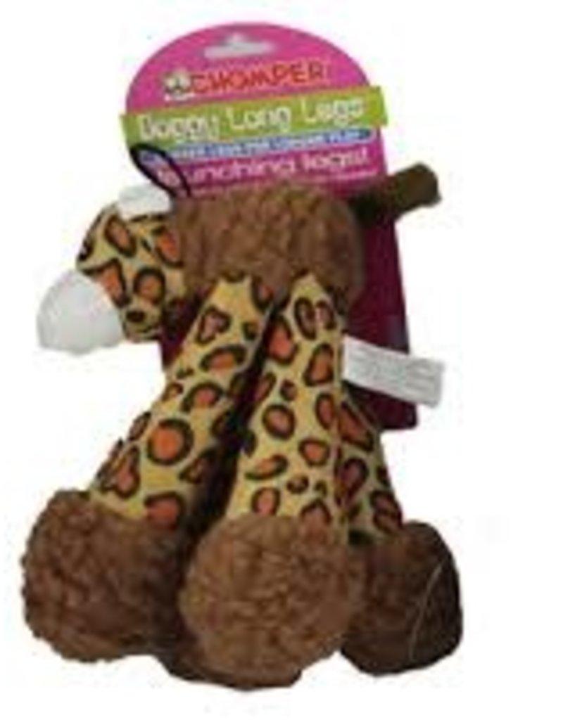 """Chomper Doggy Long Legs Leopard 9"""""""