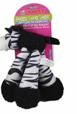 "Chomper Doggy Long Legs Zebra 9"""